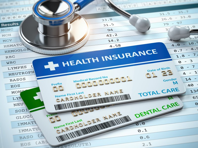 Dental and medical insurance cards